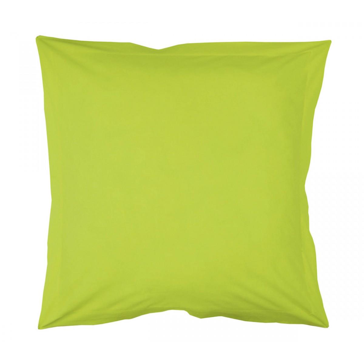 Taie d'oreiller vert pistache 63x63