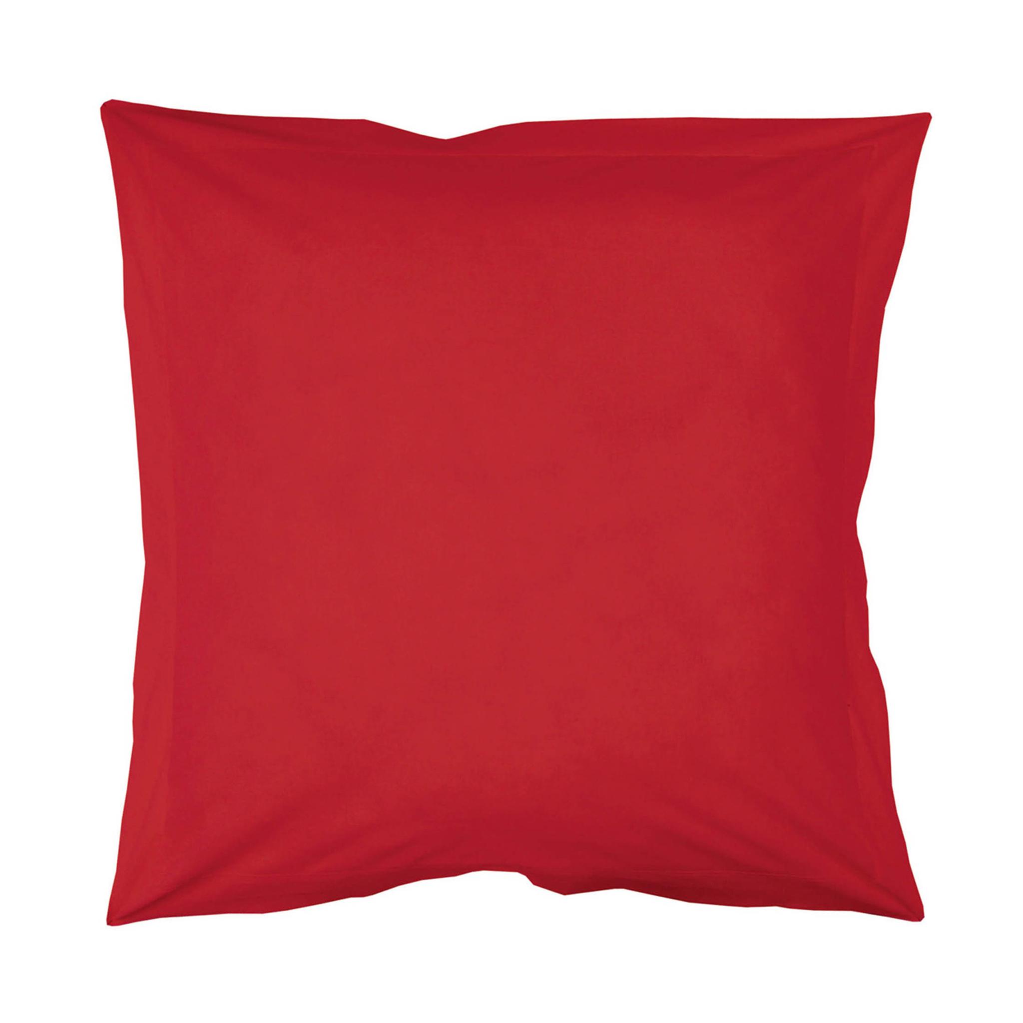 Taie d'oreiller rouge 63x63