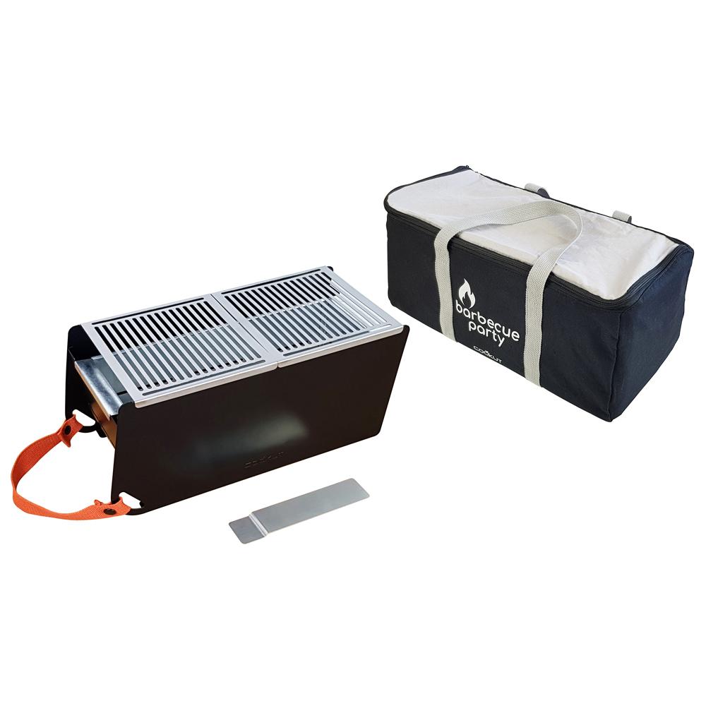 Barbecue portable de sol avec housse de transport