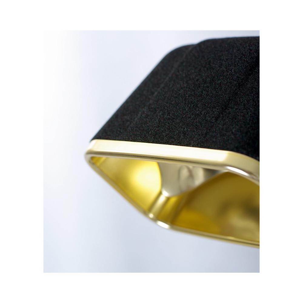 Lampe à poser en velours noir et or H50cm