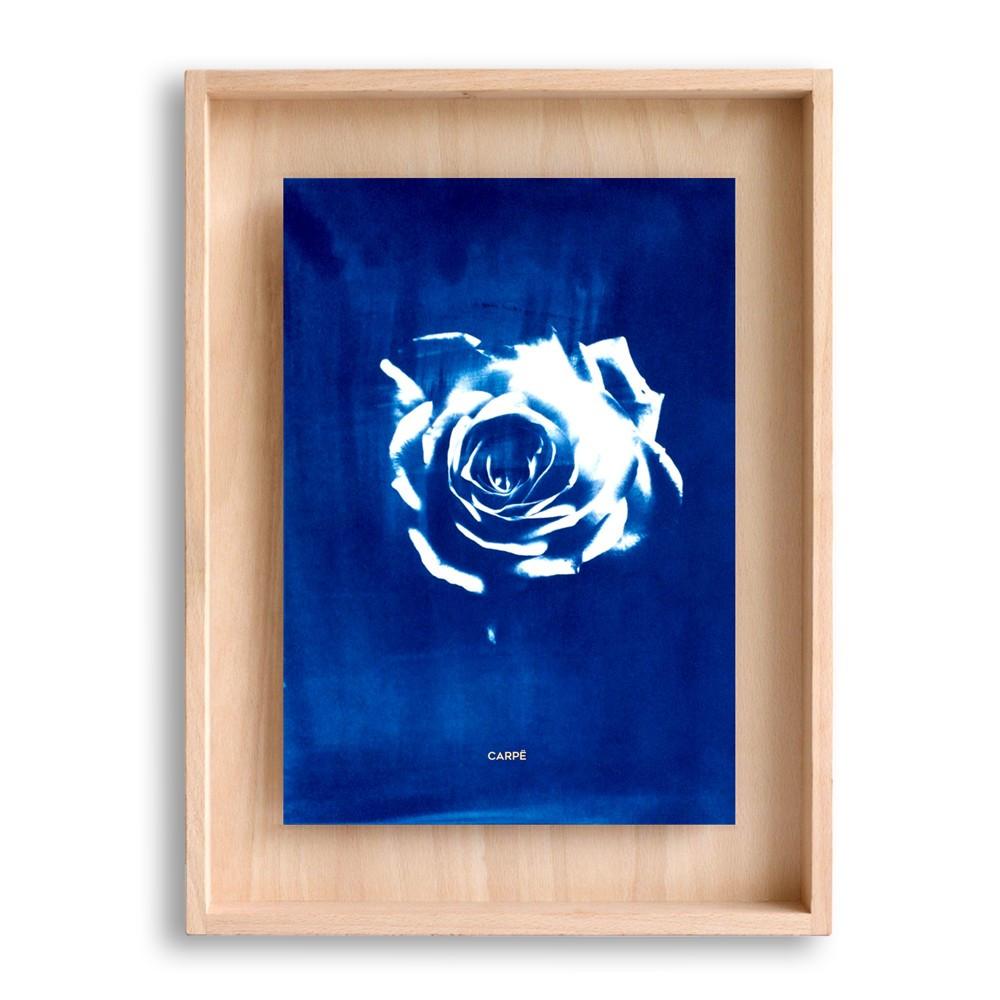 Cadre en bois cyanotype rose 40x30cm