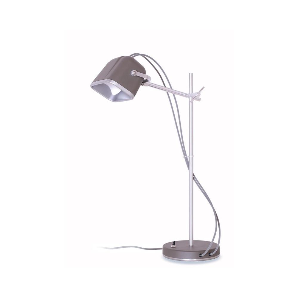 Lampe à poser en aluminium gris H60cm