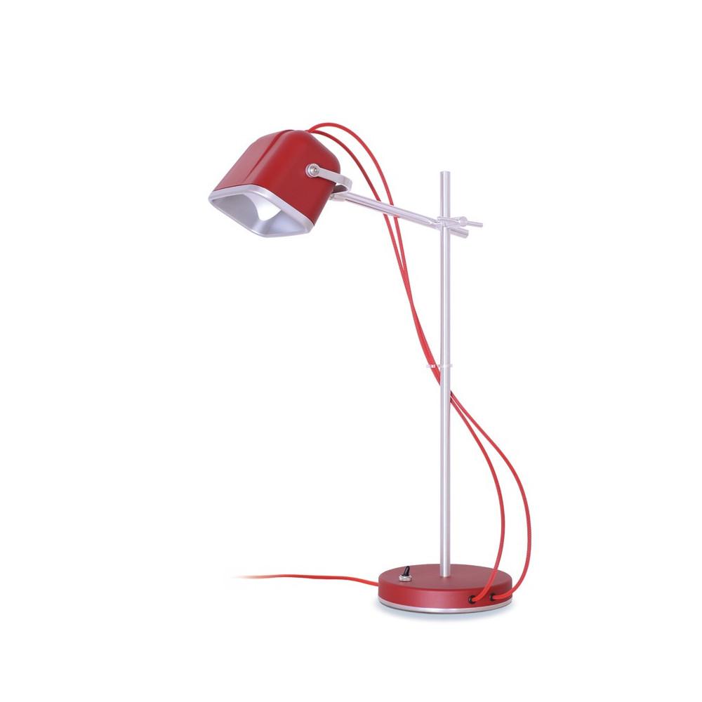 Lampe à poser en aluminium rouge H60cm