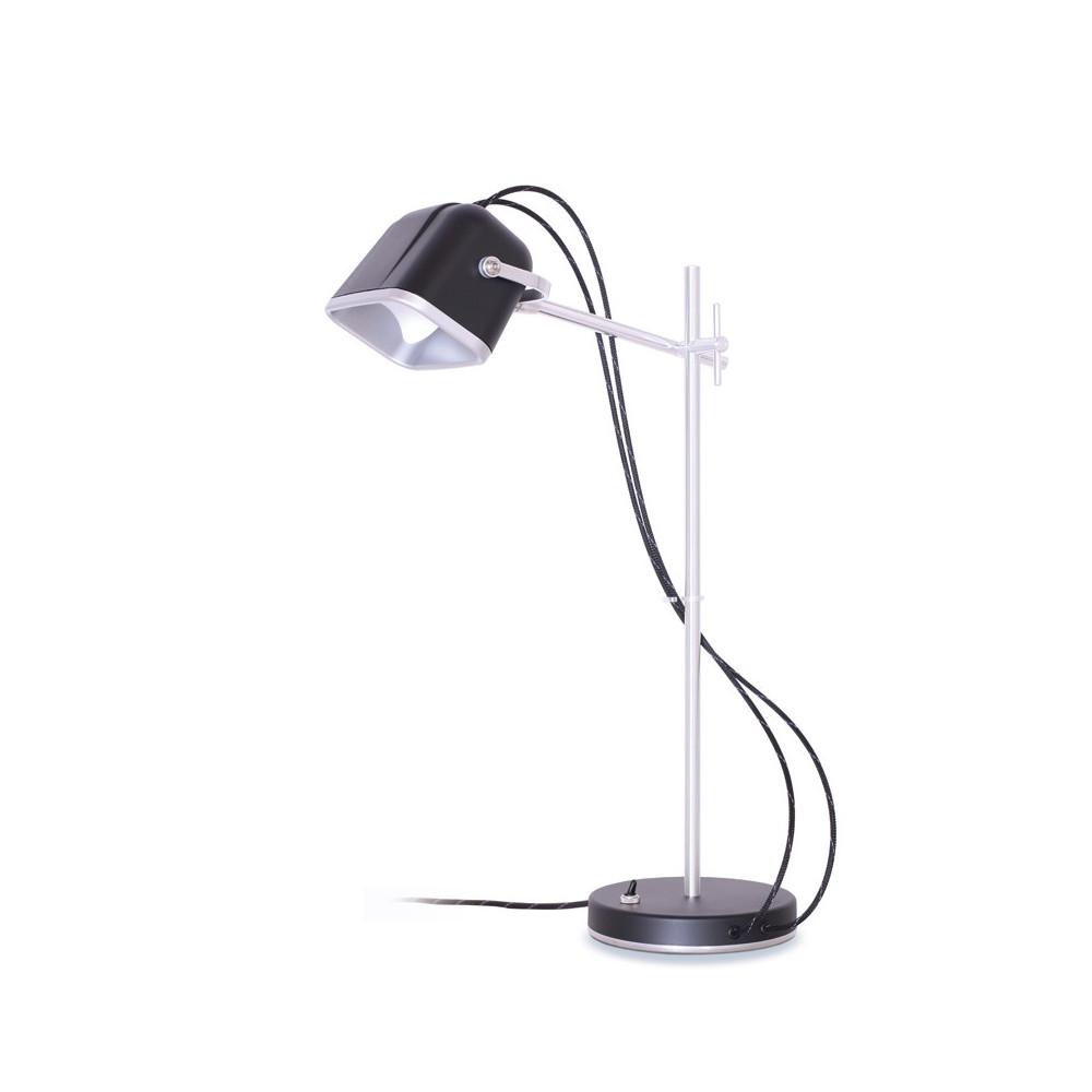 Lampe à poser en aluminium noir H60cm
