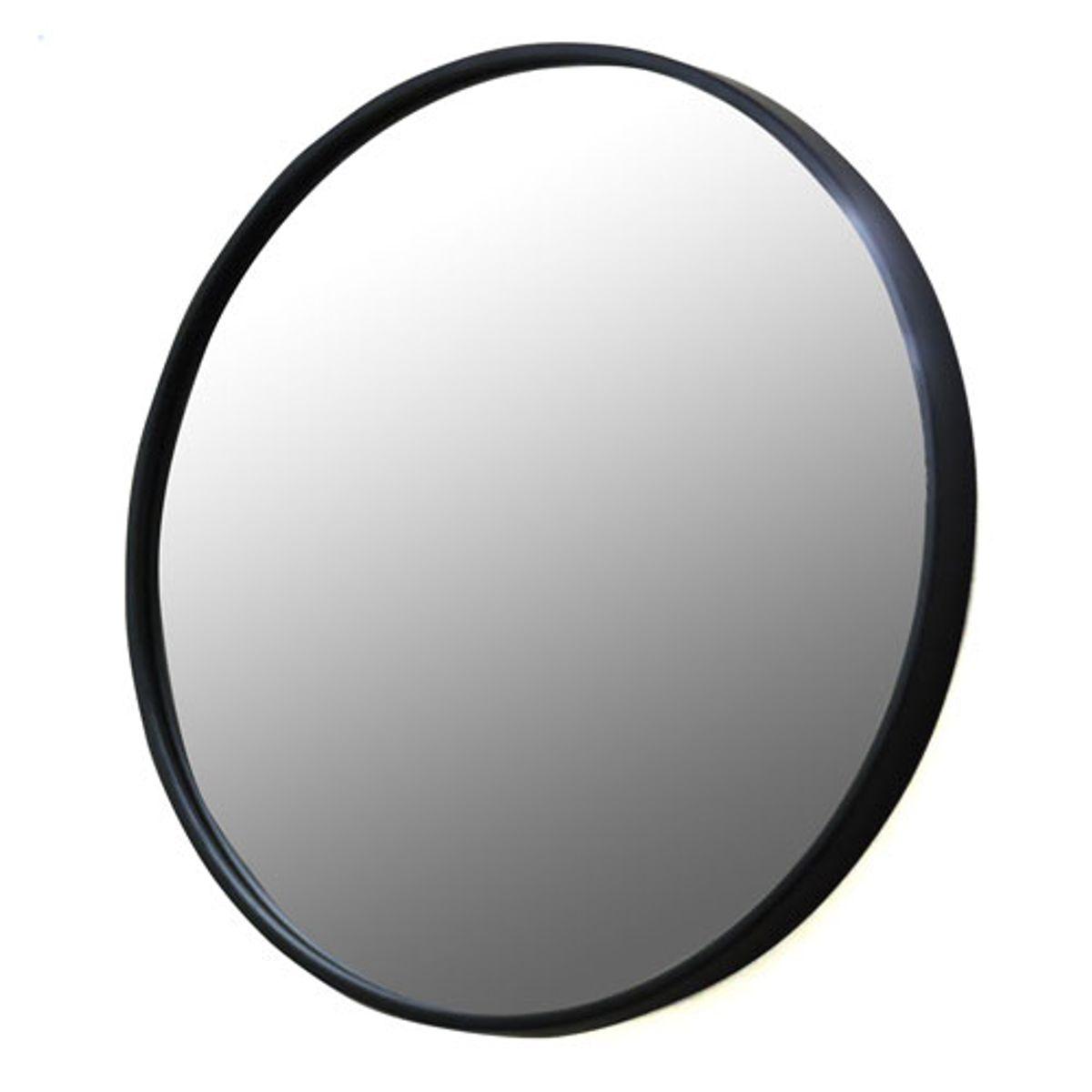 Miroir rond  Ø60 noir