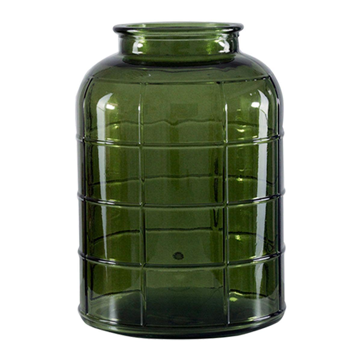 Vase bonbonne art déco vert