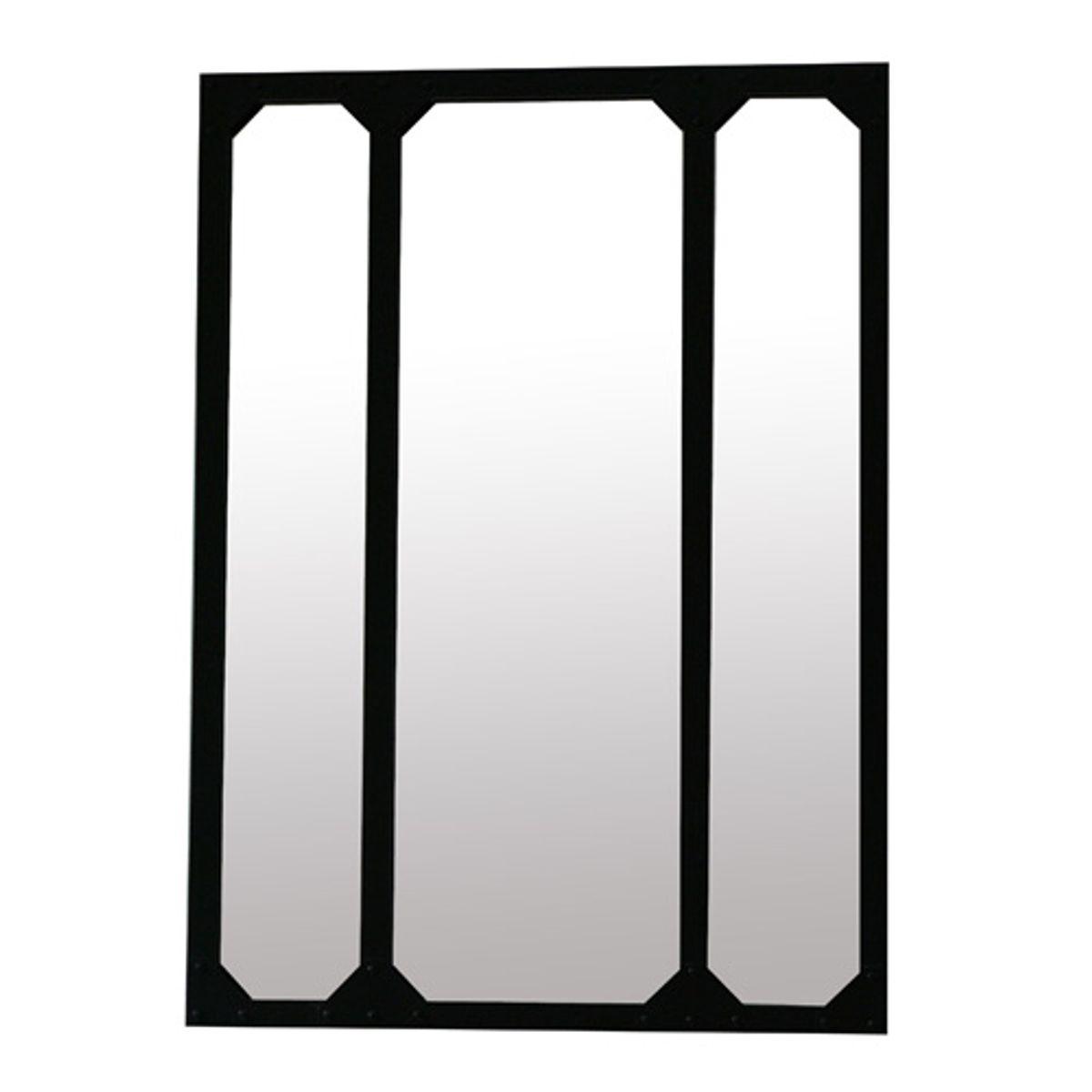 Miroir atelier en métal noir 60x83