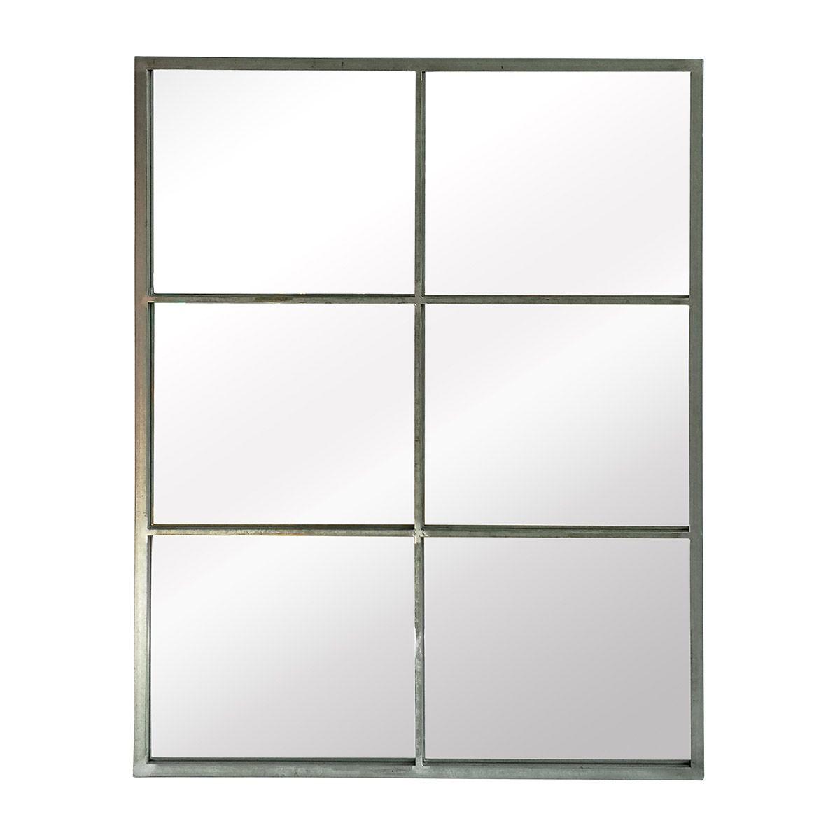 Miroir verrière rectangulaire gris 85x110