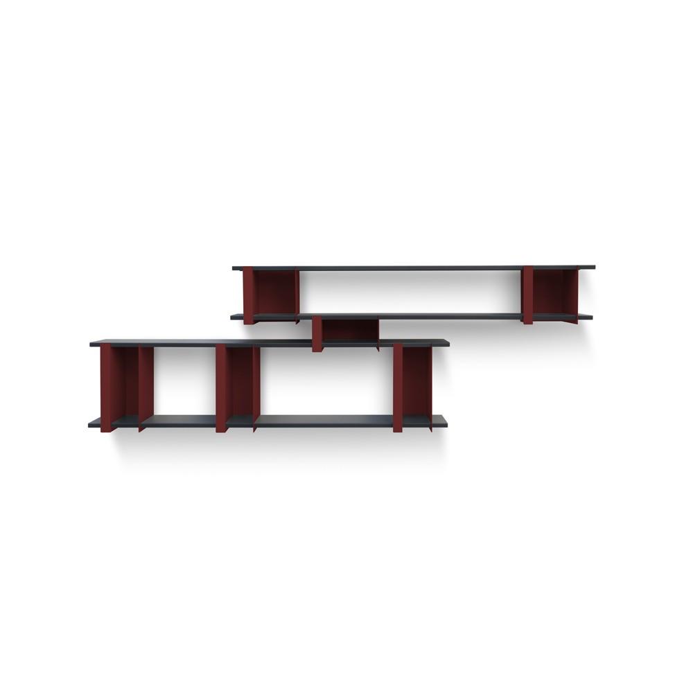 Etagère OPLI-4 rouge carbone