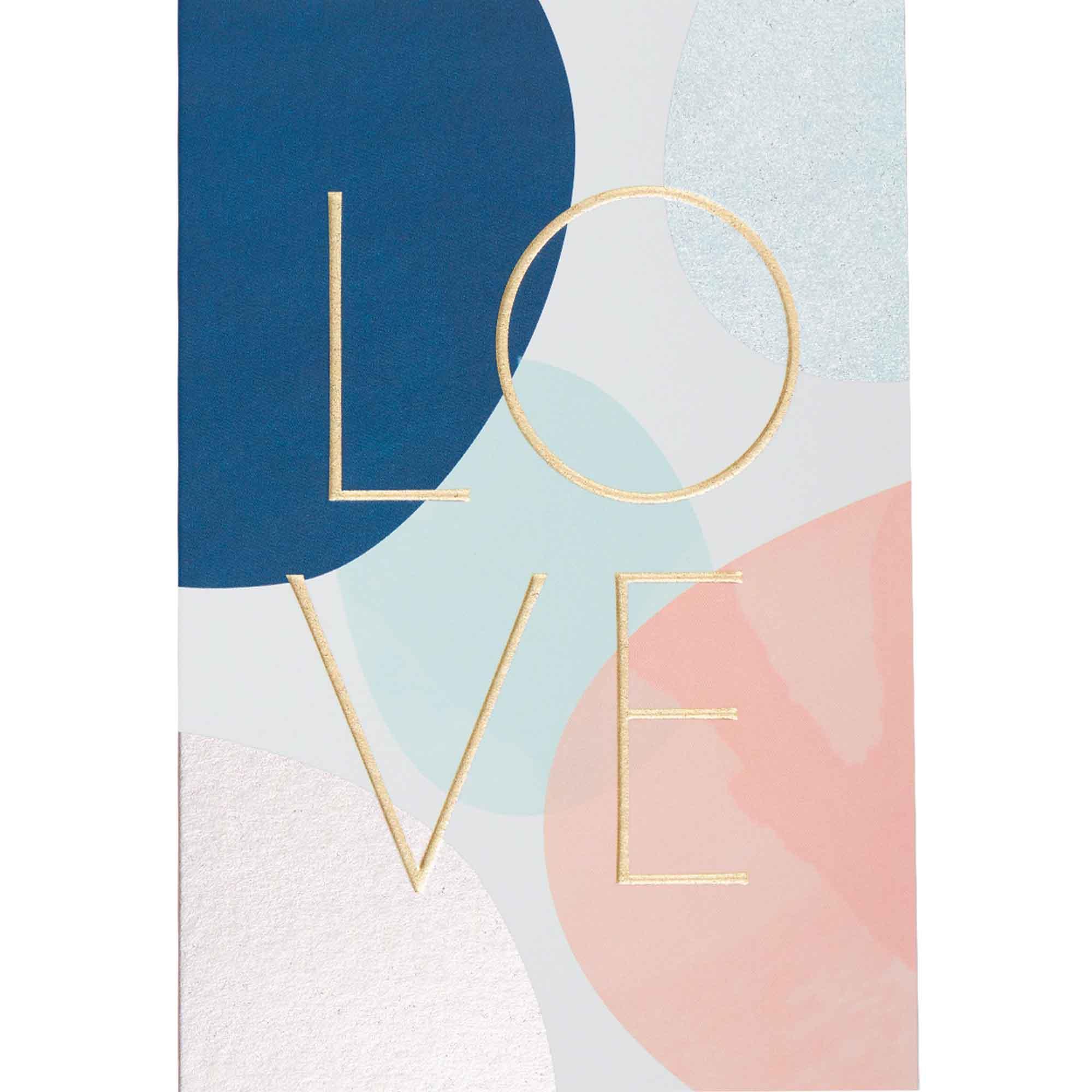 Carte love lettres dorées