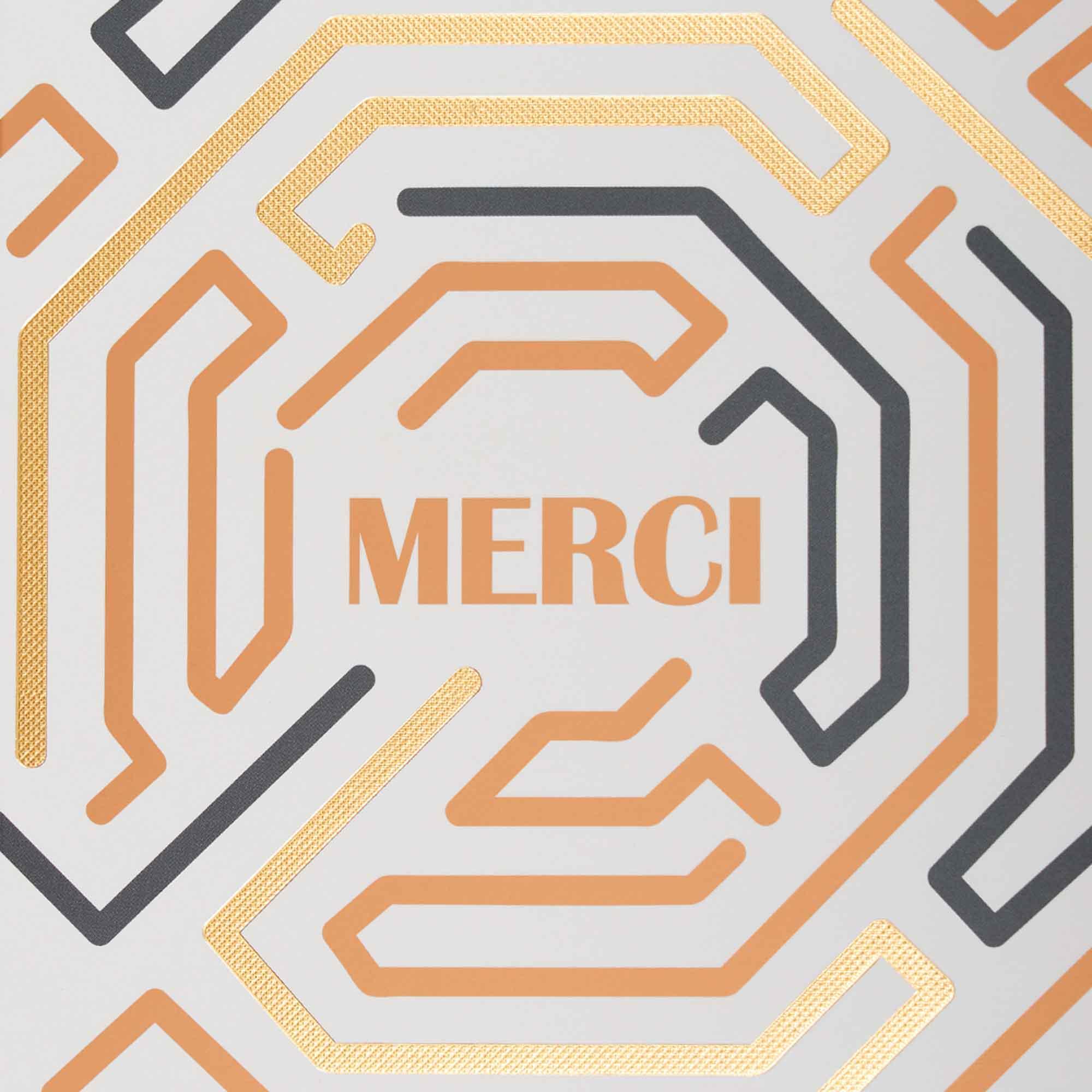 Carte merci motif labyrinthe