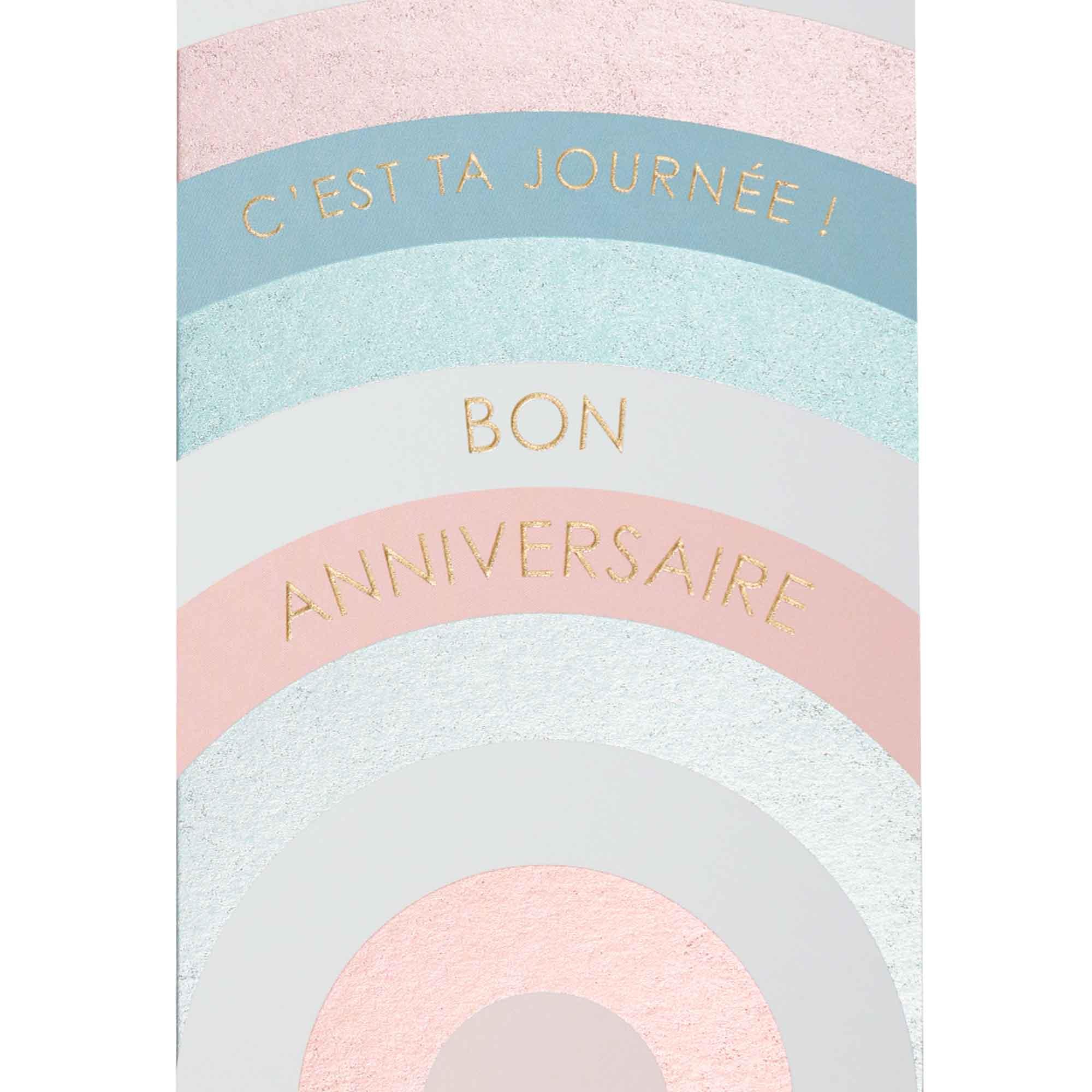Carte bon anniversaire arc-en-ciel