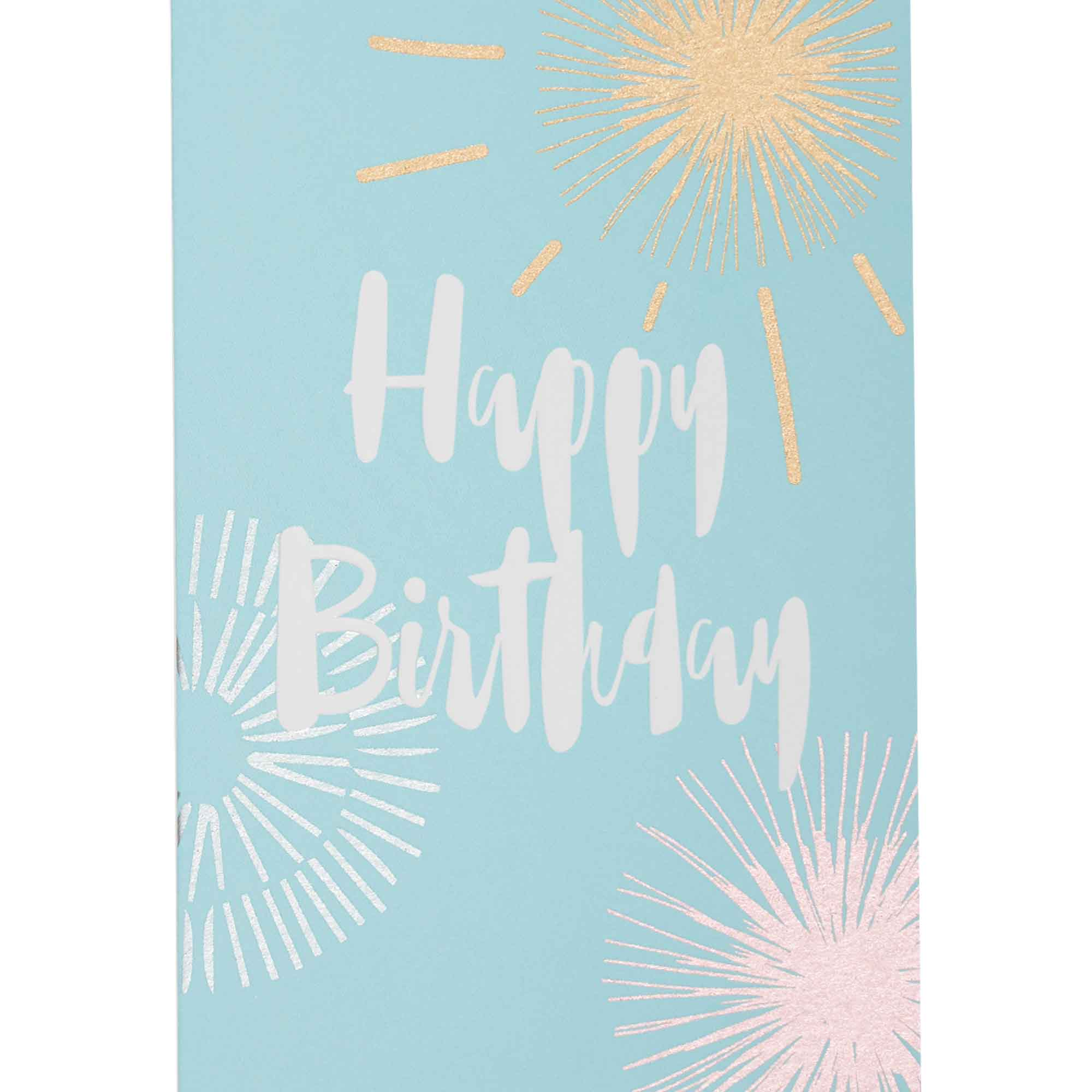 Carte happy birthday feux d'artifice
