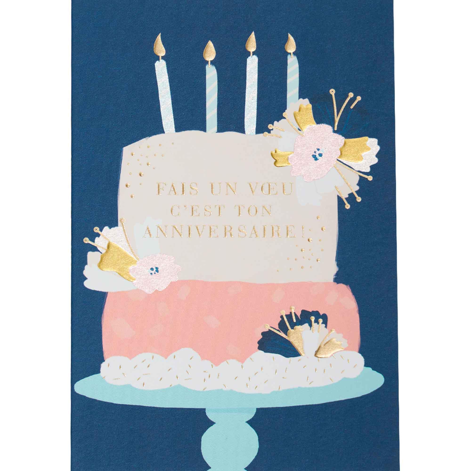 Carte anniversaire fais un voeu