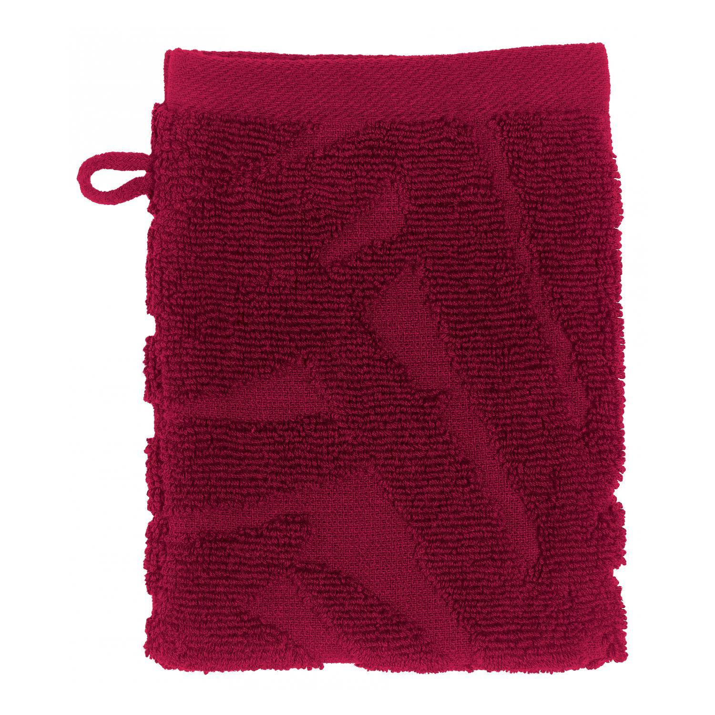 2 gants de toilette  en coton cerise 15 x 21