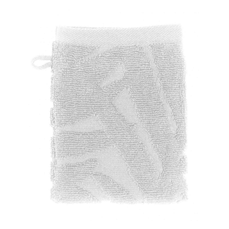 2 gants de toilette  en coton blanc 15 x 21