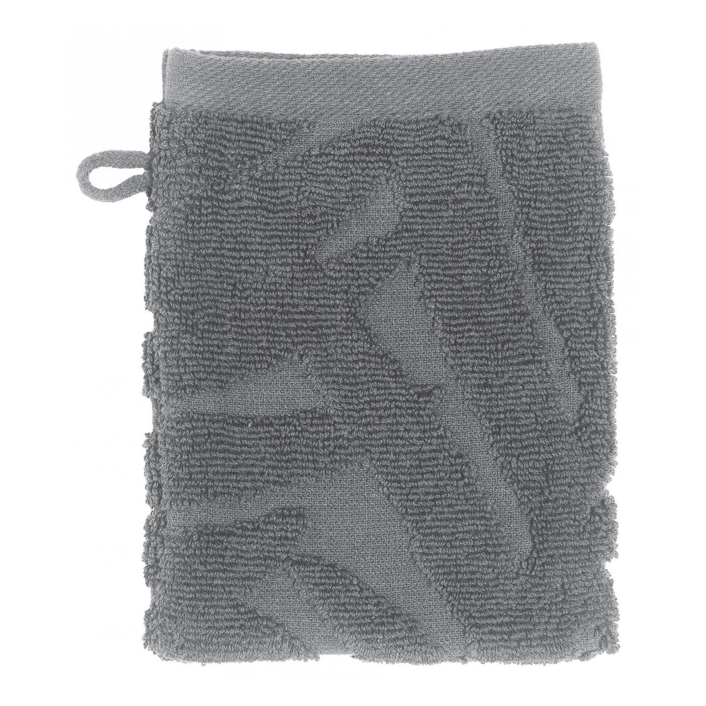 2 gants de toilette  en coton stone 15 x 21