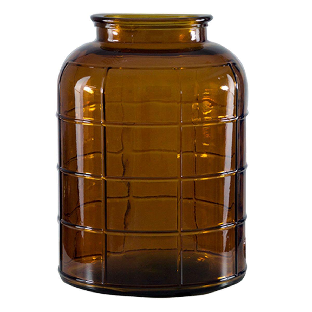 Vase bonbonne art déco marron