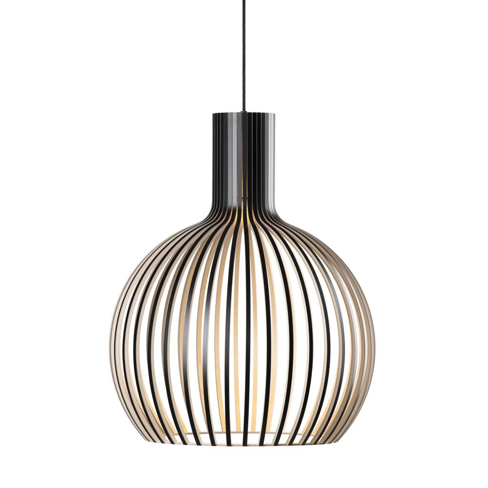 Lampe suspension noire H55cm