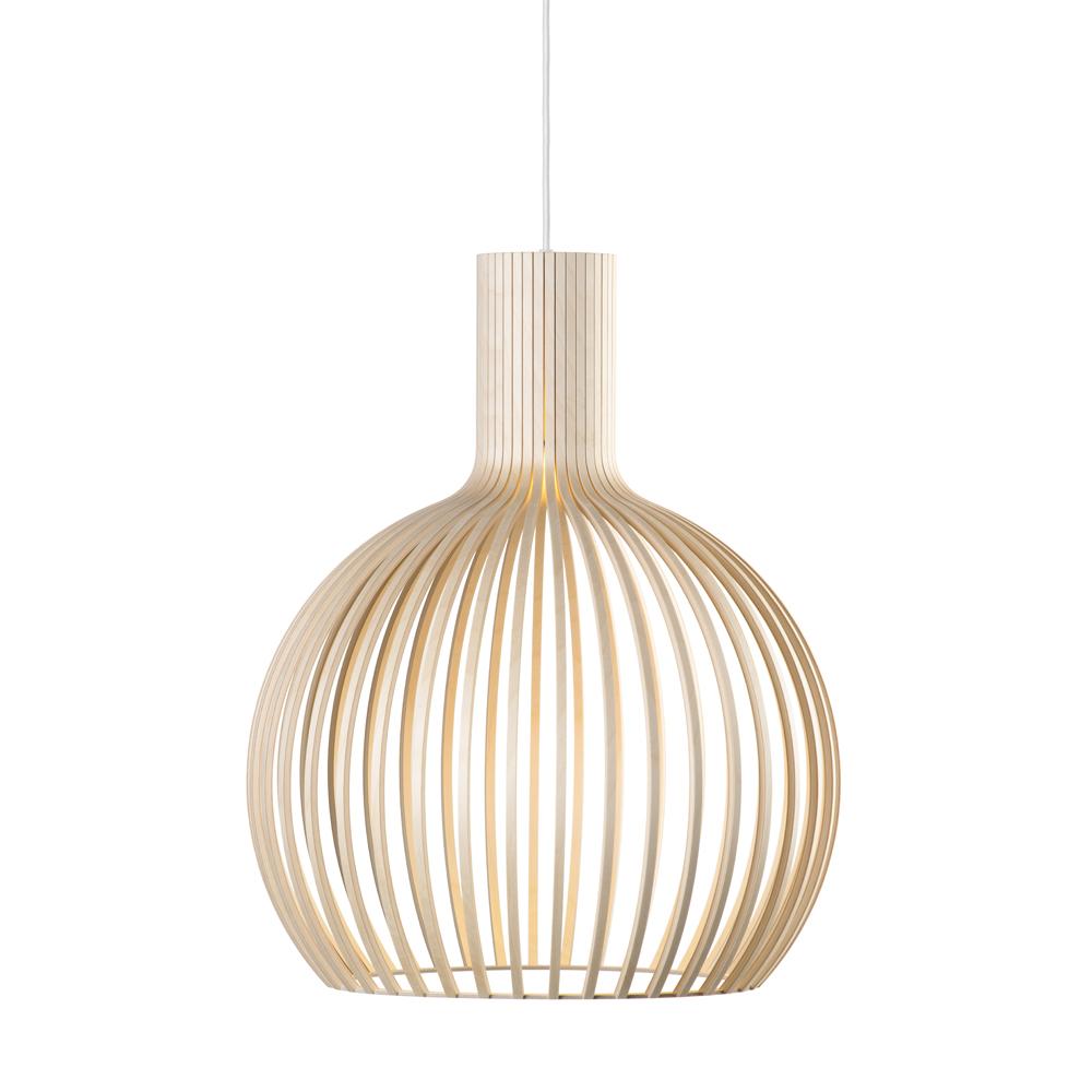 Lampe suspension bouleau H55cm