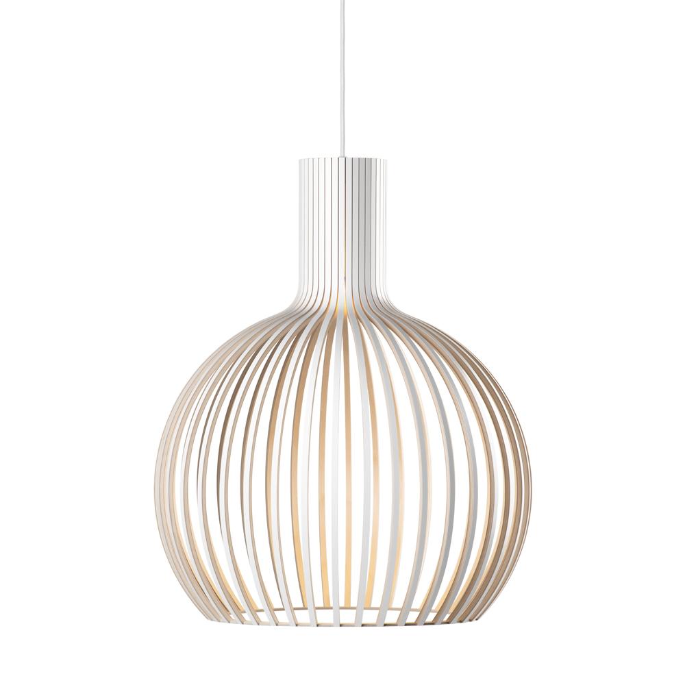 Lampe suspension blanche H55cm