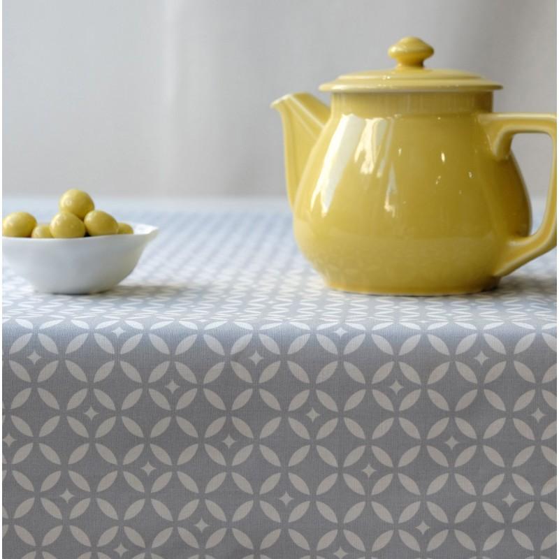 Nappe enduite rectangle 160 x 240 cm gris
