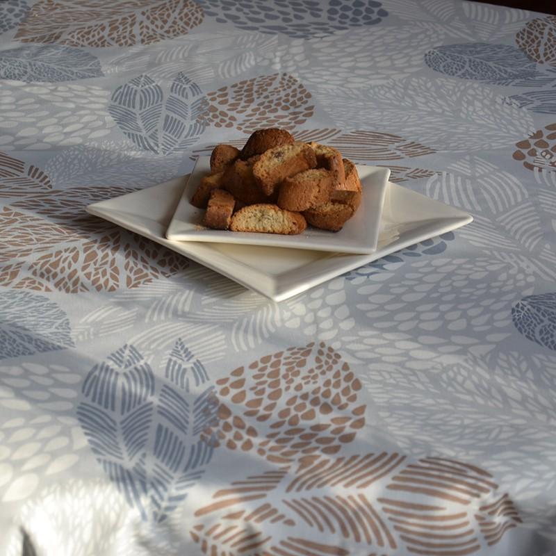 Nappe enduite carrée 120 x 120 cm beige