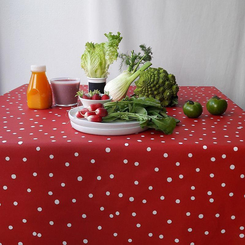 Nappe enduite rectangle 160 x 200 cm rouge