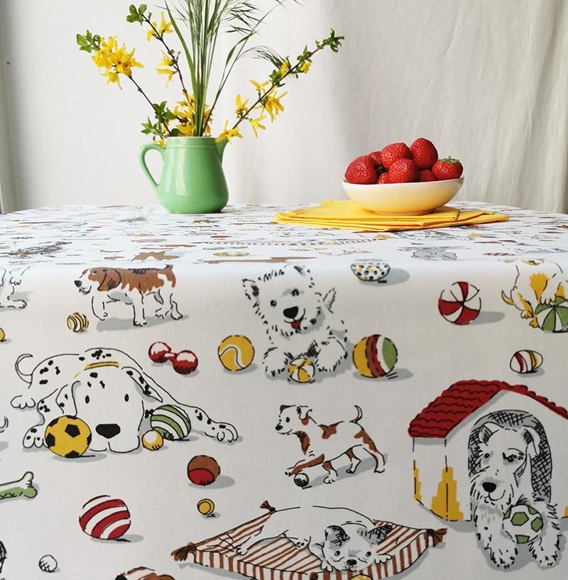 Nappe enduite rectangle 160 x 300 cm multicolore