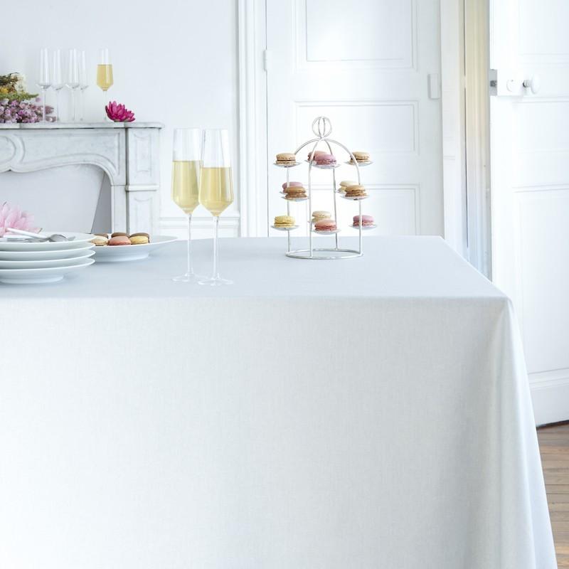 Nappe enduite rectangle 160 x 300 cm gris
