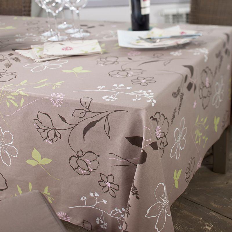 Nappe enduite carrée 120 x 120 cm rose