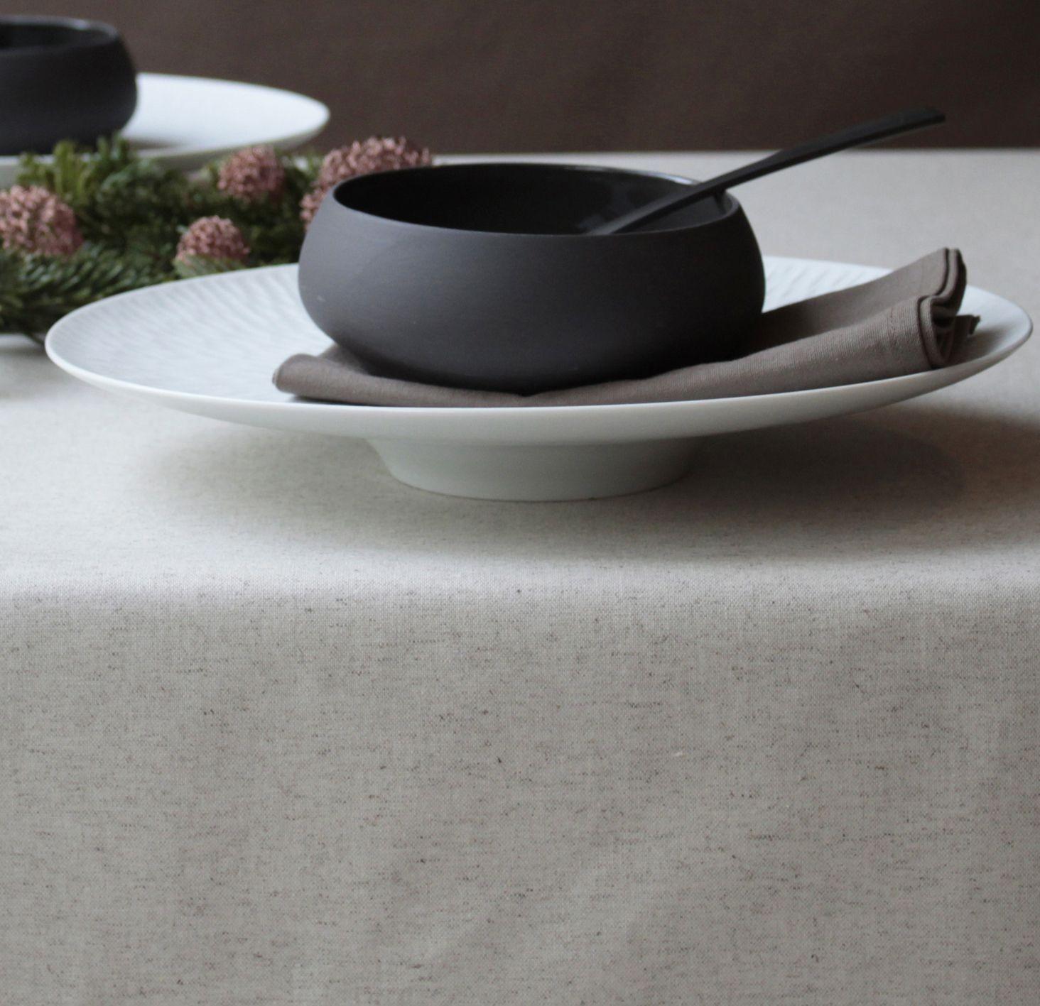Nappe enduite carrée 160 x 160 cm beige
