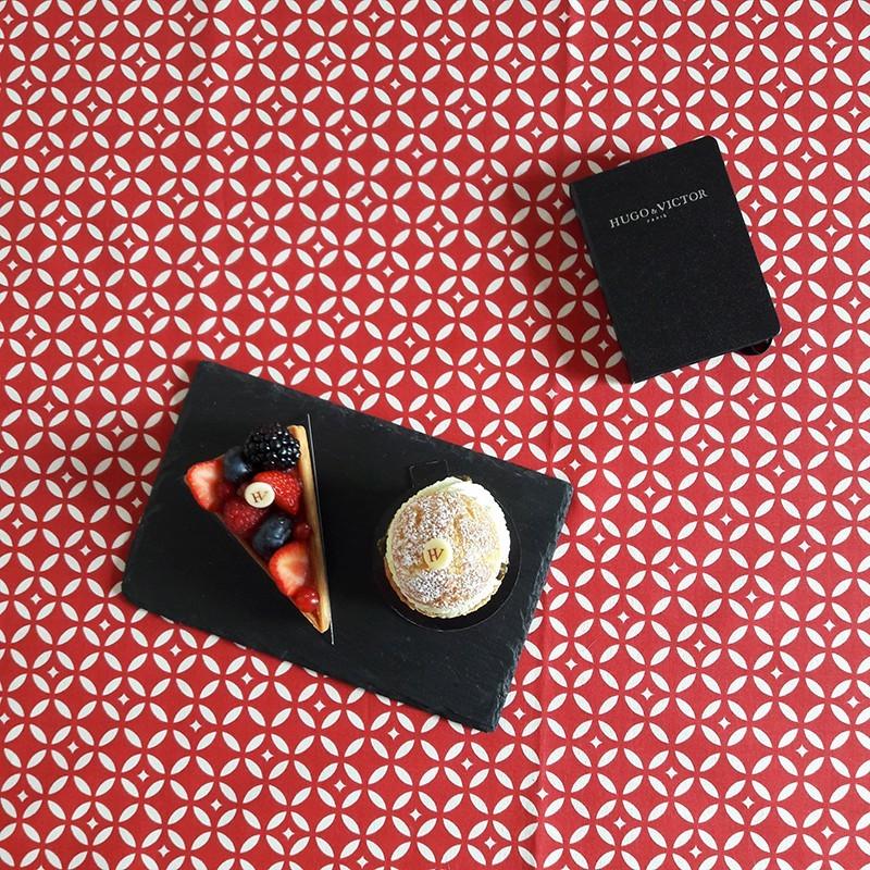 Nappe enduite rectangle 160 x 300 cm rouge