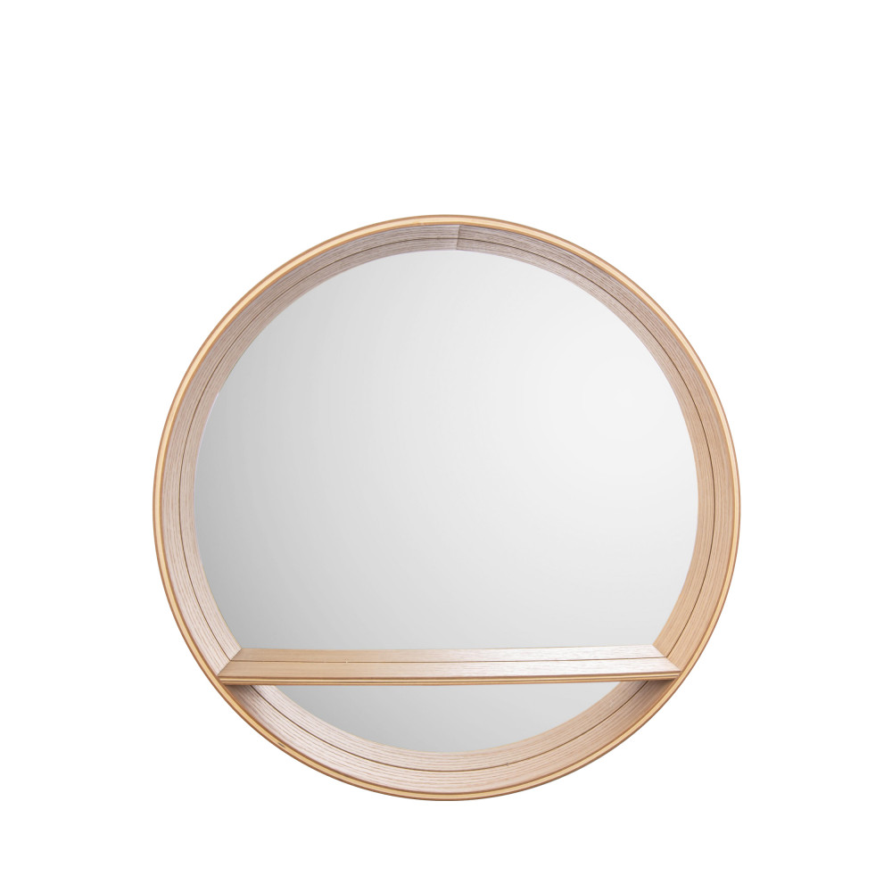 Miroir en bois avec tablette D46