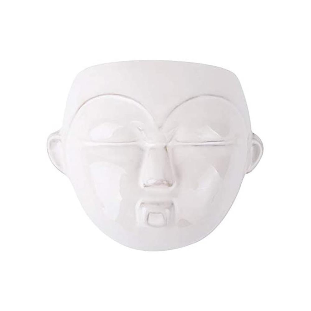 Cache-pot mural en céramique blanche H18cm
