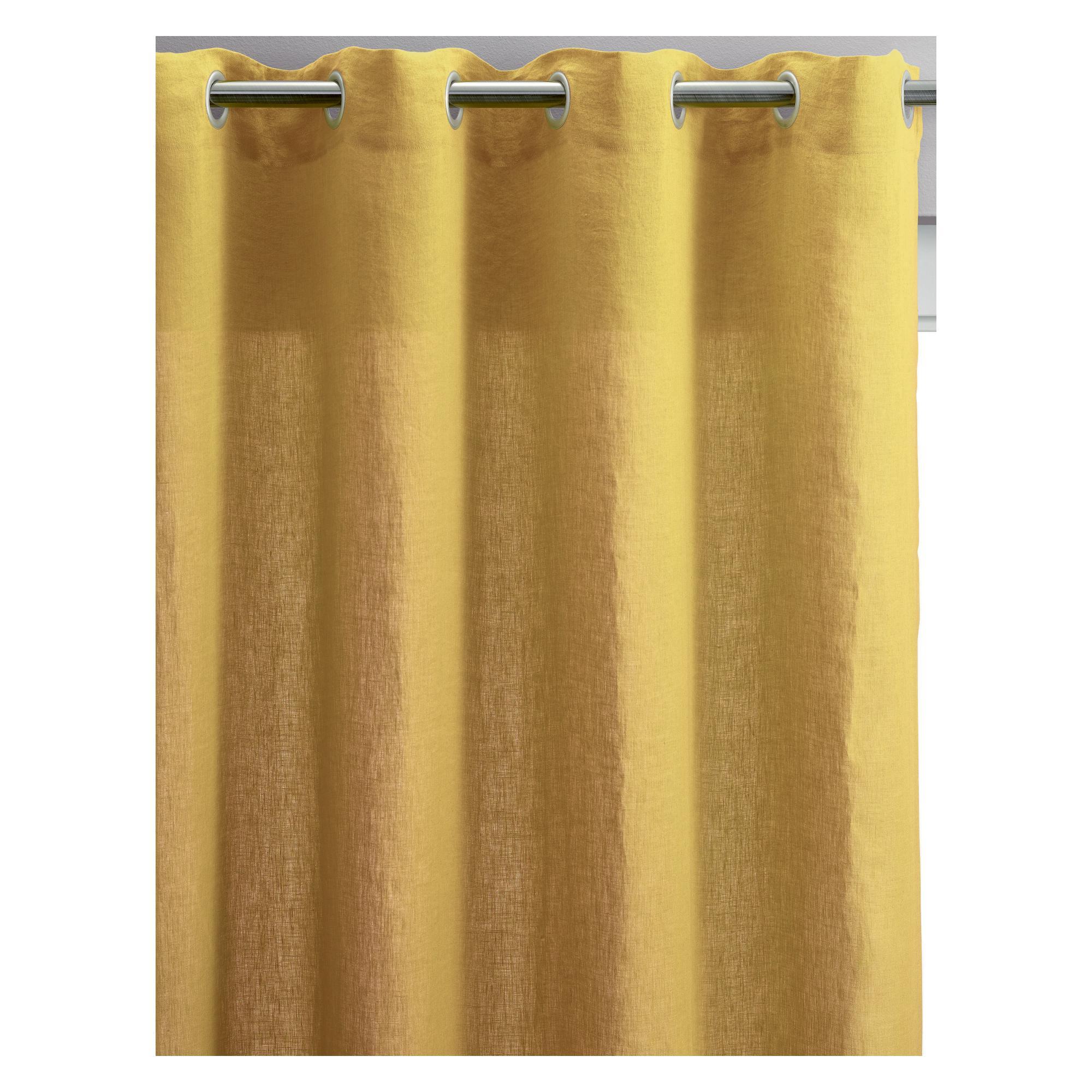 Rideau voile Zeff en lin absynthe 140 x 280