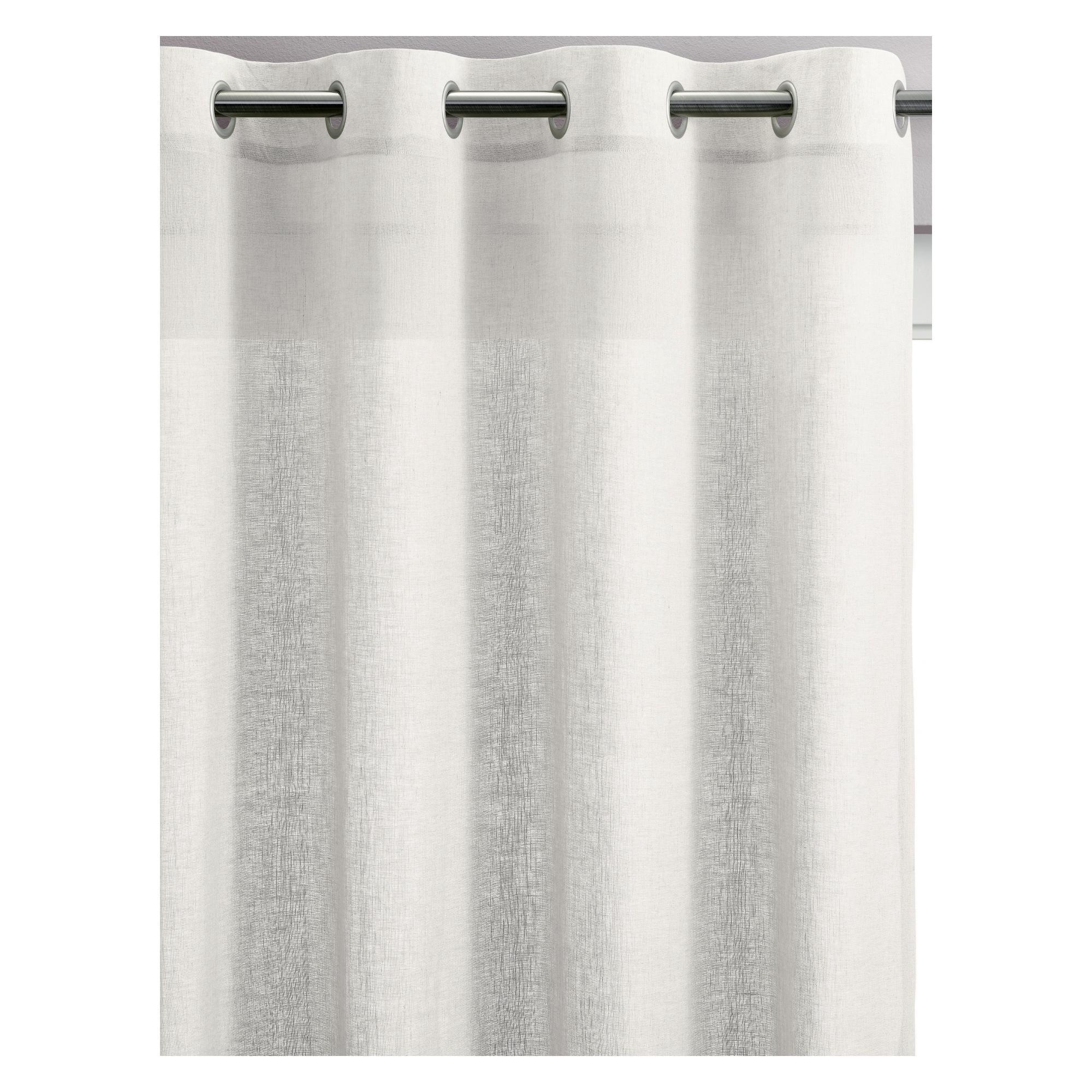 Rideau Voile en lin blanc 140 x 280