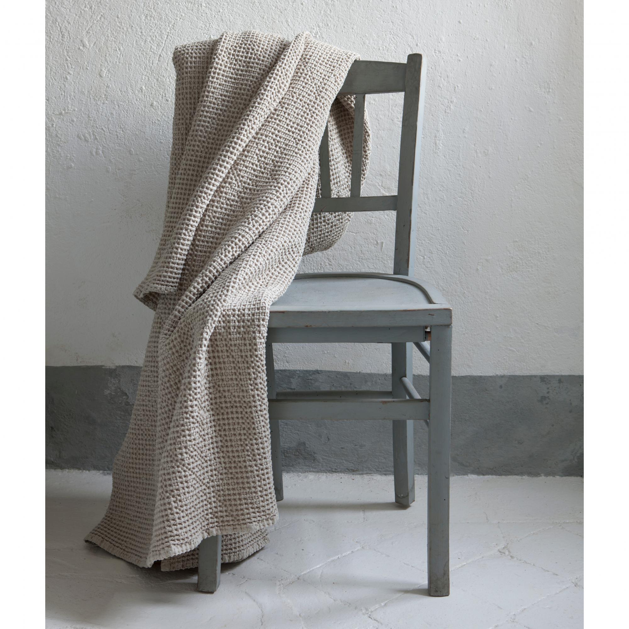 Jete  en coton blanc 180 x 260
