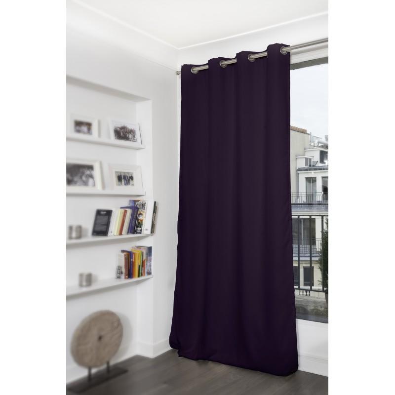 Rideau thermique occultant violet 140x260