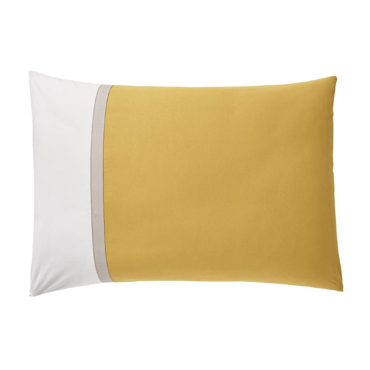 Taie d'oreiller rectangle bicolore en coton 50x70