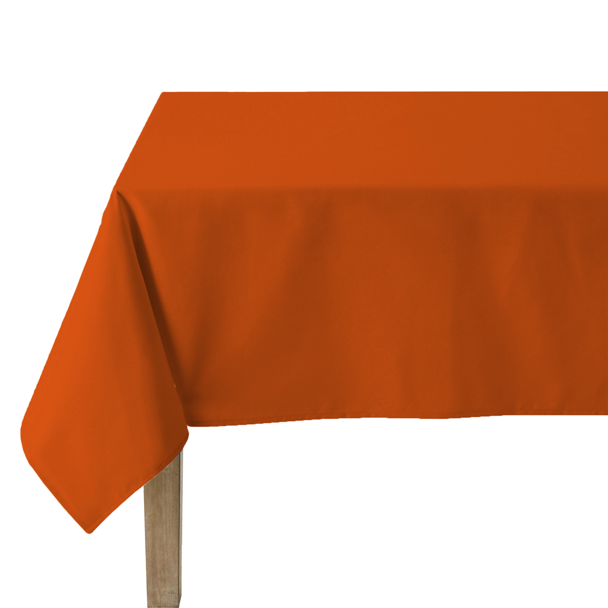 Nappe unie en polylin tangerine 160 x 240