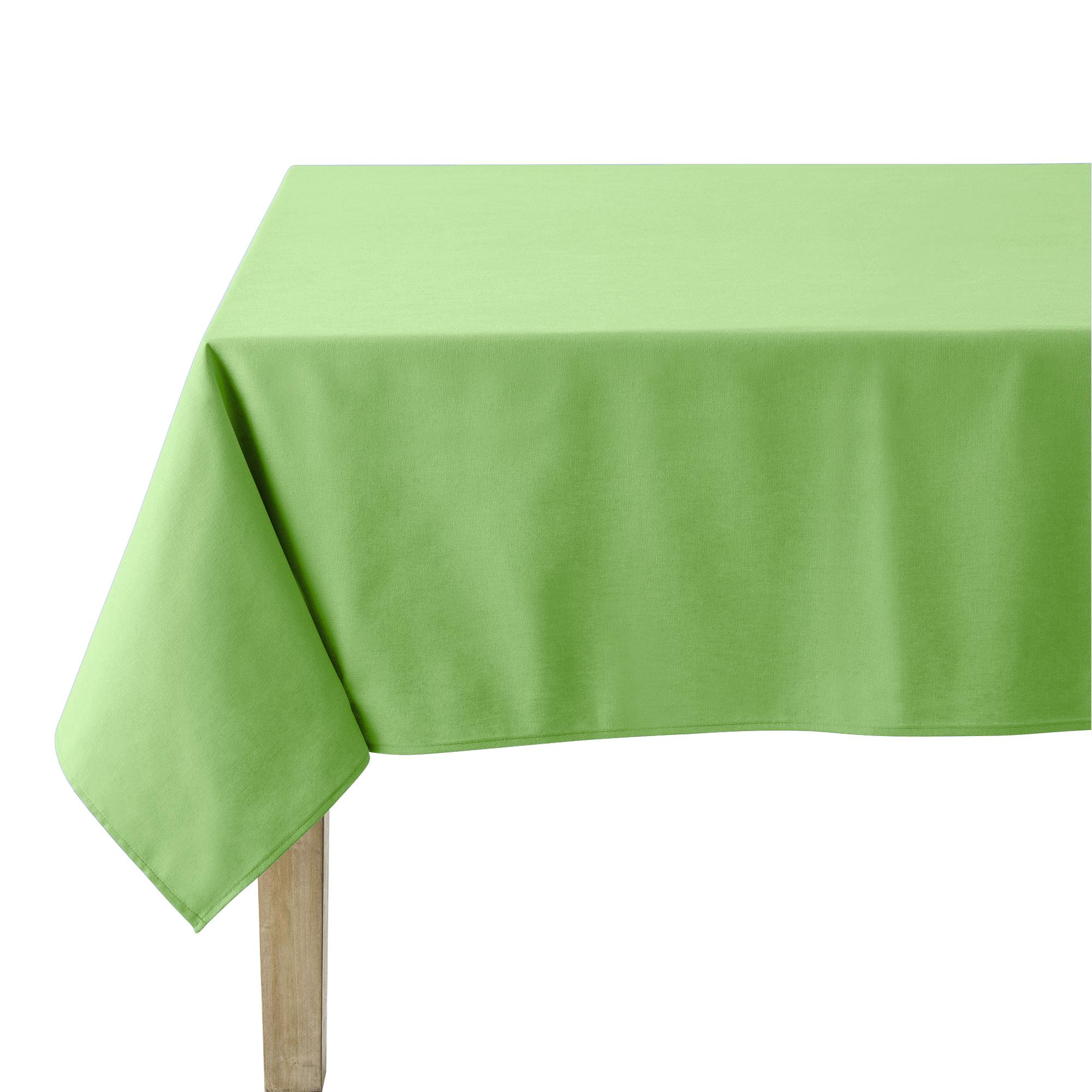 Nappe en coton traitee teflon brocoli 180 x 300