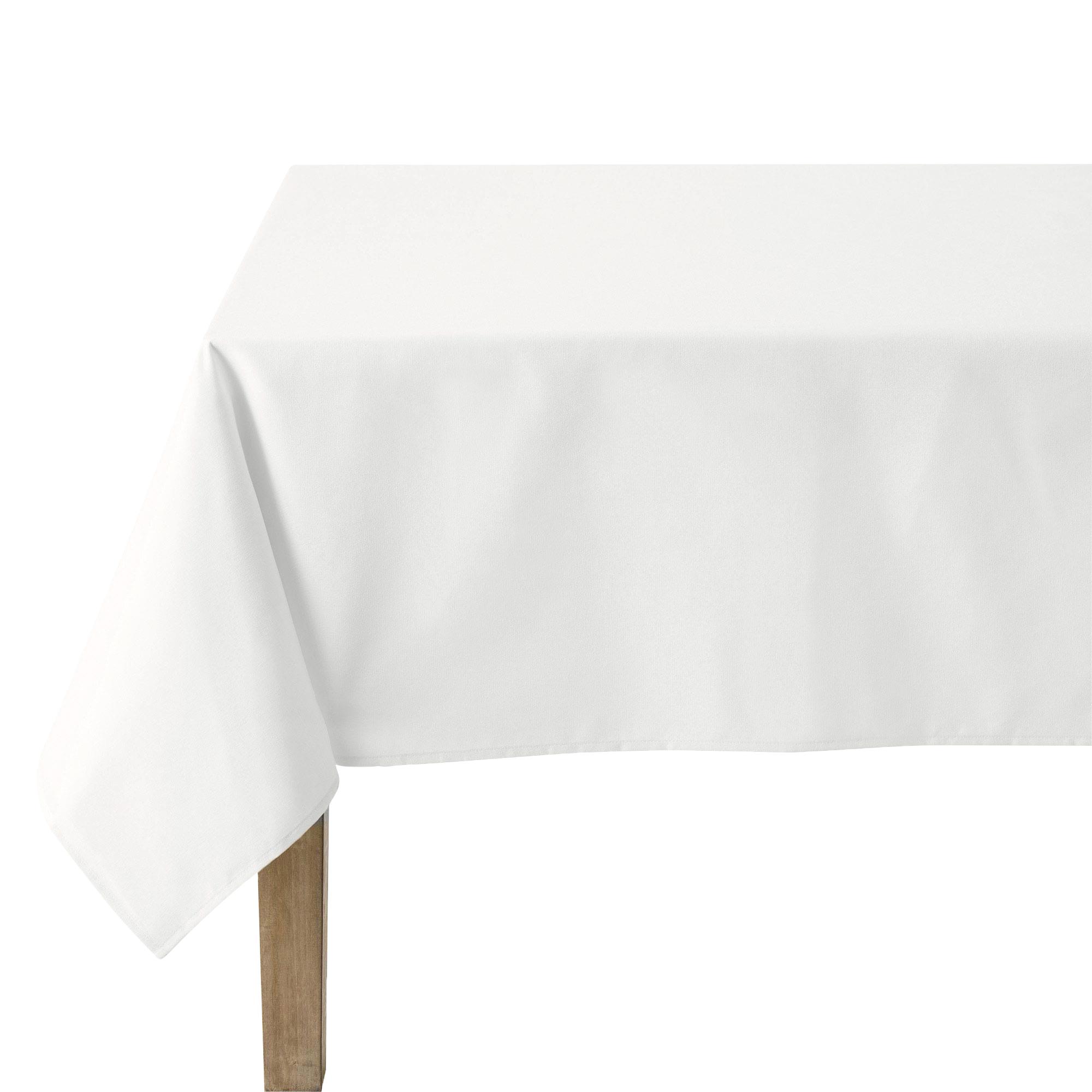 Nappe unie en polylin meringue 180 x 300