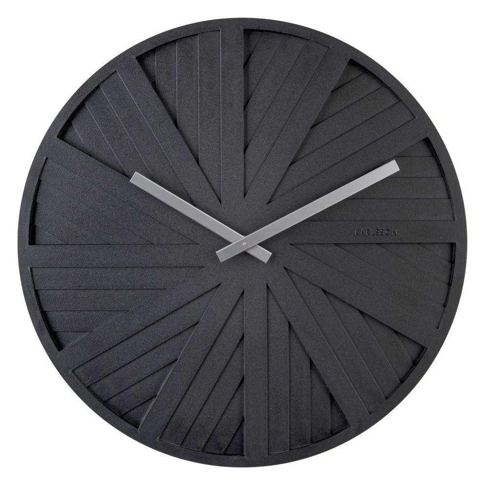 Horloge murale en ABS noire D40
