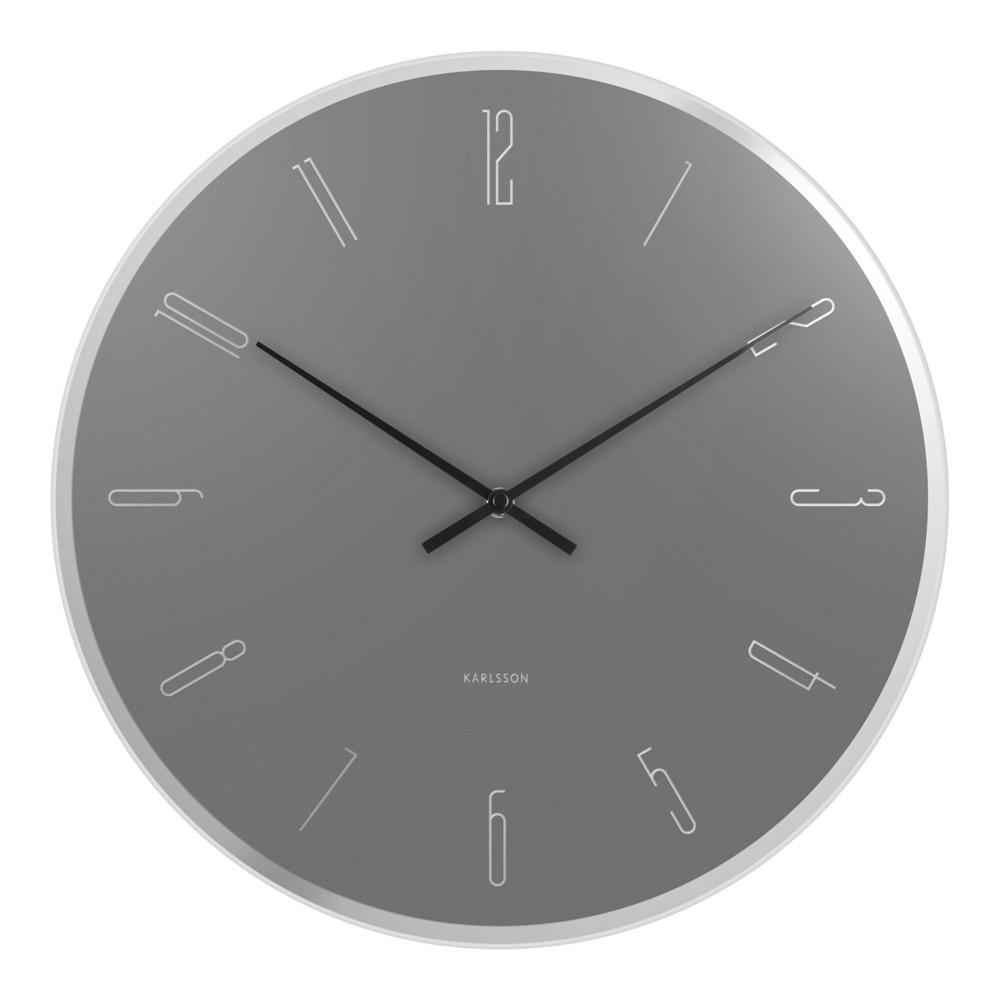 Horloge murale en métal et verre D40