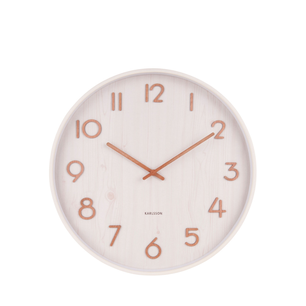 Horloge en bois de tilleul blanc D40