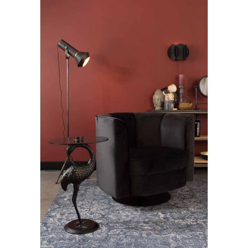 Table d'appoint ronde en métal D40cm noir
