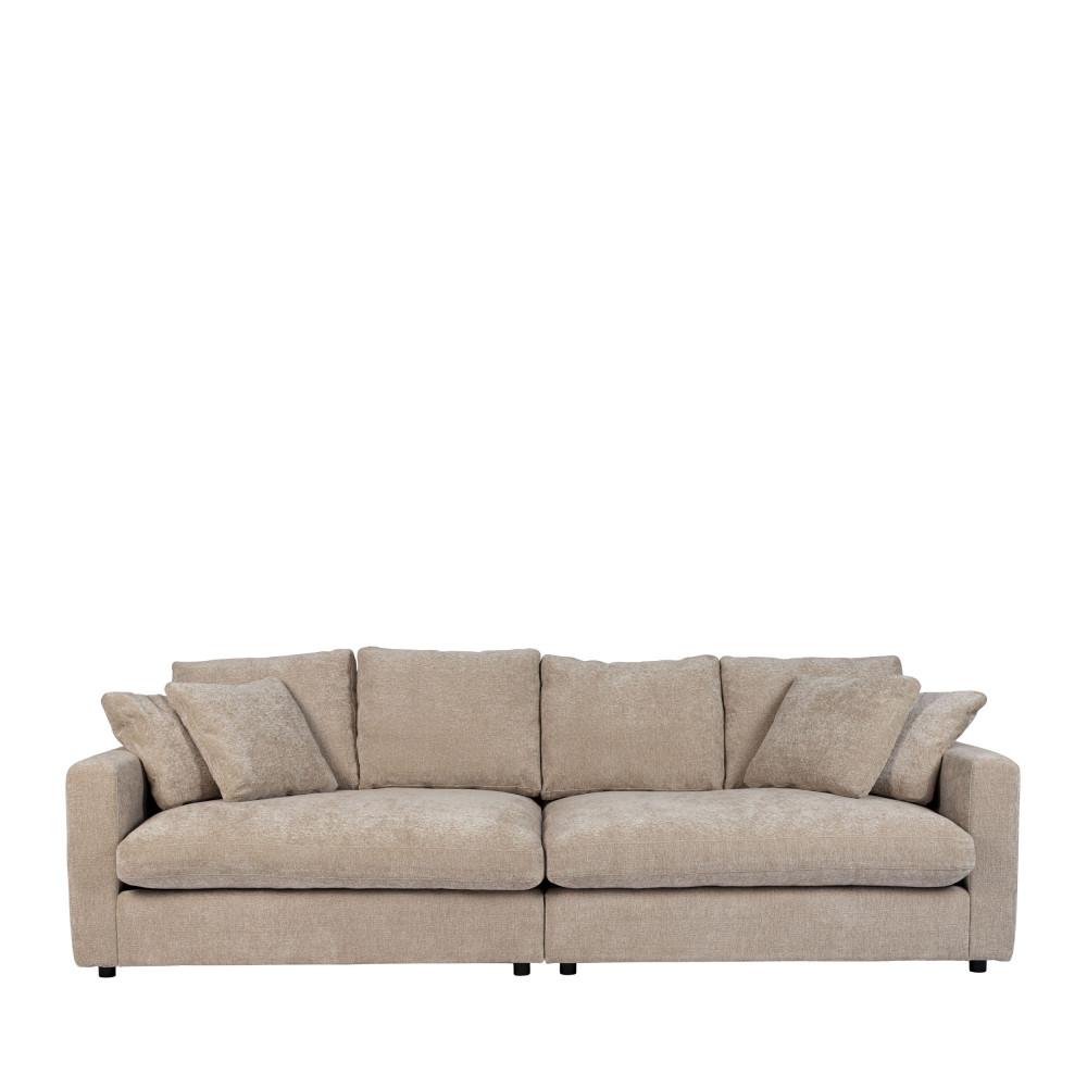 Canapé 3 places en tissu beige