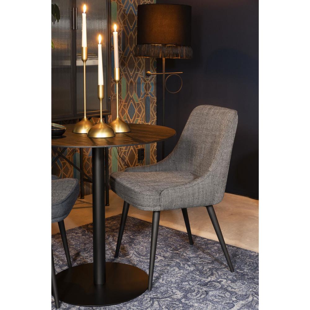 2 chaises en tissu gris anthracite