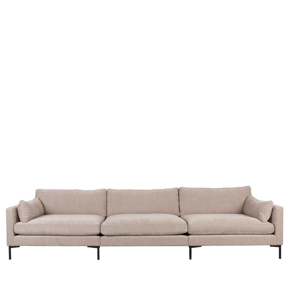Canapé 5 places en tissu beige